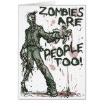 Los zombis son engranaje de la gente también felicitaciones