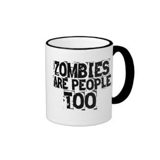 Los zombis son gente también taza a dos colores