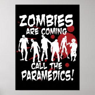 Los zombis son llamada que viene el poster de los