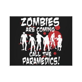 Los zombis son llamada que viene los paramédicos lona envuelta para galerias