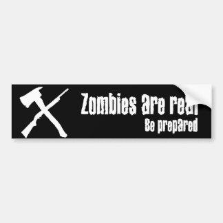 Los zombis son reales pegatina de parachoque