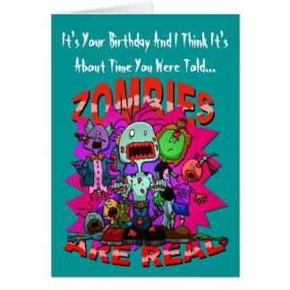 Los zombis son tarjeta de felicitaciones real