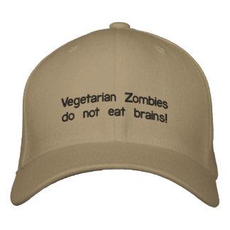 ¡Los zombis vegetarianos no comen cerebros! Gorra De Béisbol Bordada