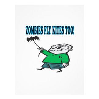 Los zombis vuelan cometas también tarjetas informativas