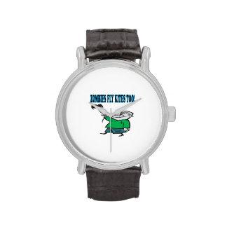 Los zombis vuelan cometas también reloj