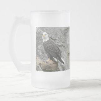 Los zurdos de Eagle calvo helaron a Stein Taza De Cristal