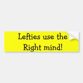 ¡Los zurdos utilizan la mente correcta!