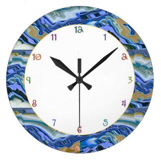 Losa azul de la ágata relojes de pared