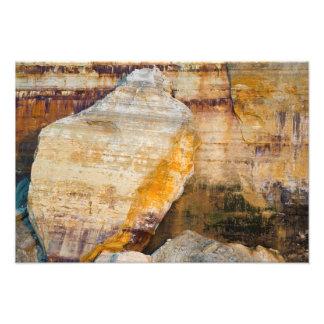 Losa gigante de la roca, rocas representadas NL, M Fotos