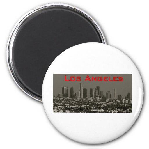 LosAngeles 2 Inch Round Magnet