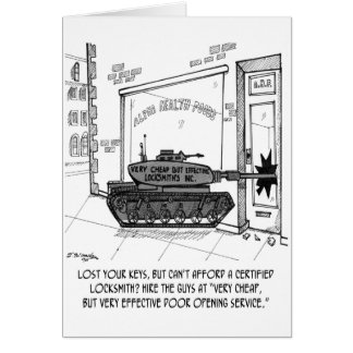 Lose Keys, Use a Tank Card