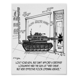 Lose Keys, Use a Tank Poster