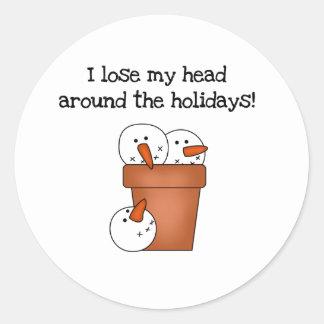 Lose My Head Holiday Classic Round Sticker