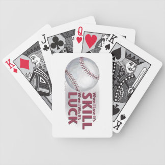 Lose Skill Win Luck Baseball Bicycle Playing Cards