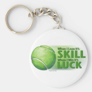 Lose Skill Win Luck Tennis Ball Basic Round Button Keychain