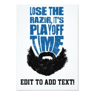 Lose The Razor, Hockey Playoff Beard Custom Invitations