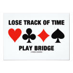 Lose Track Of Time Play Bridge (Card Suits) Personalized Invitations