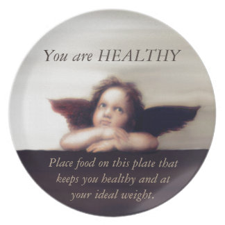 Lose Weight and Be Healthy Melamine Plate