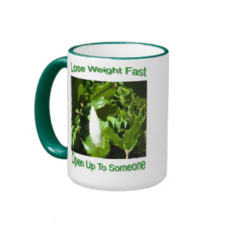 Lose weight by opening up Thank you for opening up Ringer Coffee Mug
