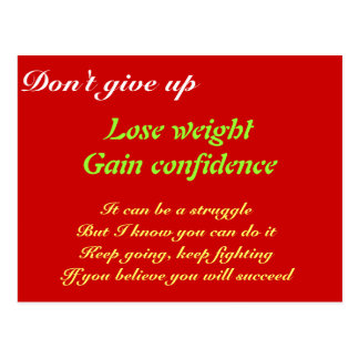 Lose weight postcard
