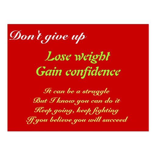 Lose weight post card