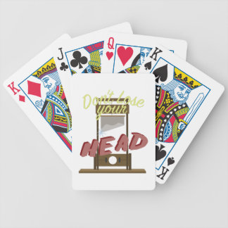 Lose Your Head Bicycle Playing Cards