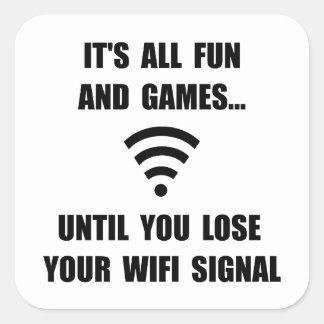 Lose Your WiFi Square Sticker