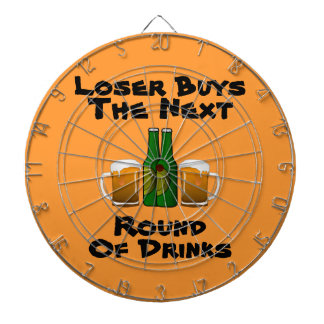 LOSER BUYS NEXT ROUND Funny Beer Mugs Dart Board