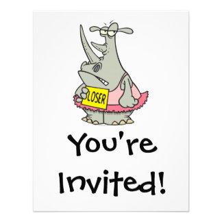 loser dancing ballerina rhino cartoon announcements