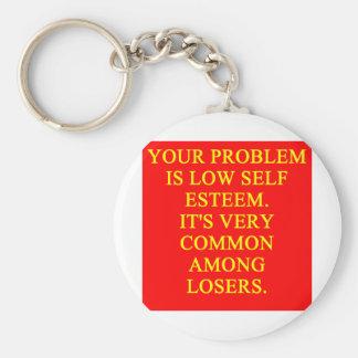 LOSER low self esteem Key Chain