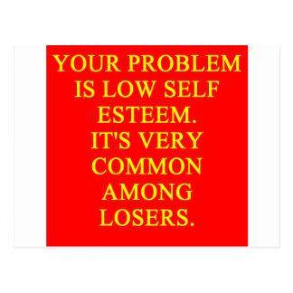 LOSER low self esteem Postcard