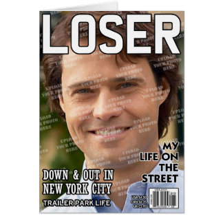 Loser Personalized Magazine Cover Card