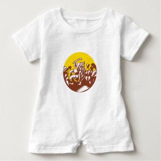 Losi Defeating God Circle Woodcut Baby Romper