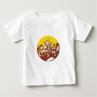 Losi Defeating God Circle Woodcut Baby T-Shirt