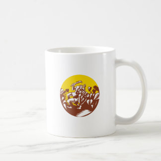 Losi Defeating God Circle Woodcut Coffee Mug