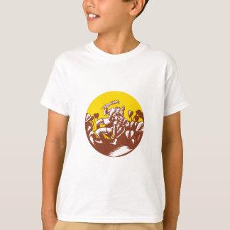 Losi Defeating God Circle Woodcut T-Shirt