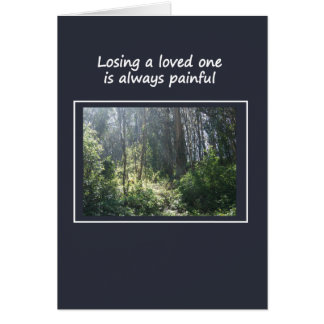 Losing a Loved One Greeting Card