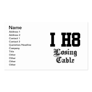 losing cable business card