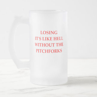 LOSING FROSTED GLASS BEER MUG