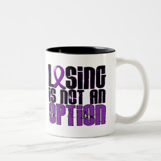 Losing Is Not An Option Alzheimer's Disease Two-Tone Coffee Mug
