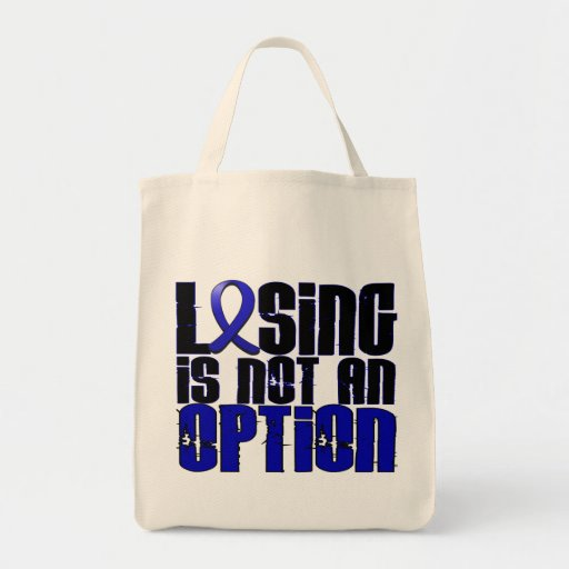 Losing Is Not An Option Ankylosing Spondylitis Canvas Bags