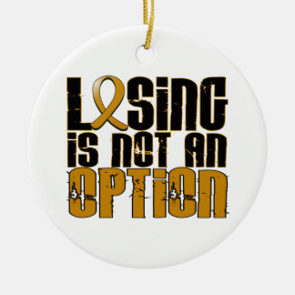 Losing Is Not An Option Appendix Cancer Double-Sided Ceramic Round Christmas Ornament