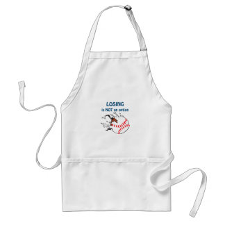 LOSING IS NOT AN OPTION ADULT APRON