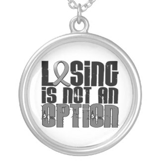 Losing Is Not An Option Brain Cancer Round Pendant Necklace