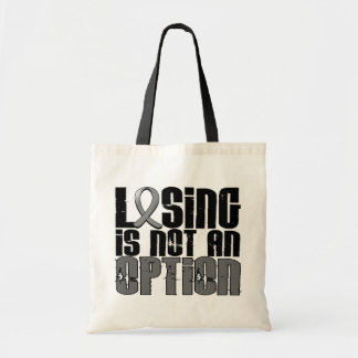 Losing Is Not An Option Brain Tumor Canvas Bag