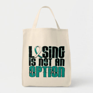 Losing Is Not An Option Cervical Cancer Tote Bag