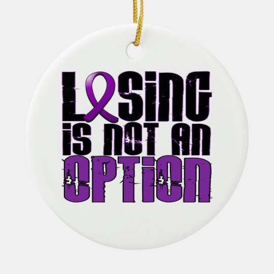 Losing Is Not An Option Chiari Malformation Ceramic Ornament