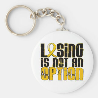 Losing Is Not An Option Childhood Cancer Key Chains