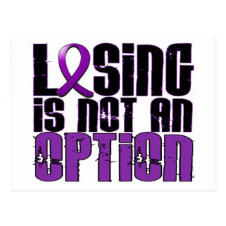 Losing Is Not An Option Crohn's Disease Postcard