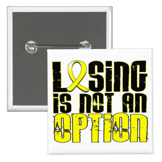 Losing Is Not An Option Endometriosis Buttons